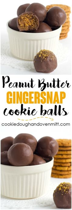 No Bake Peanut Butter Gingersnap Cookie Balls - Make some mouth watering, spiced up peanut butter balls using gingersnaps. Grab your 5 ingredients and whip these up in minutes! via @mmmirnanda