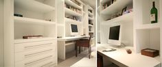 Home office in white - Couture Furniture, London