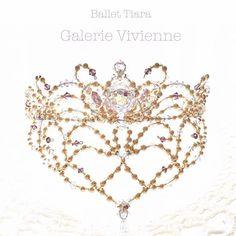 フロント飾りが華やかな#バレエティアラ #handmadejewelry #swalvski #tiara #balletcompetition #バレエコンクール #バレエ発表会 #ティアラ
