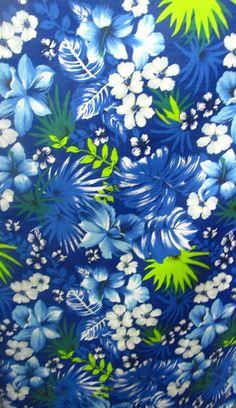 Polycotton Per Metre Royal Blue Roses On Cream