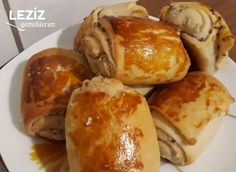 Tahinli Rulo Tarifi Pretzel Bites, Baked Potato, Bakery, Food And Drink, Bread, Ethnic Recipes, Salons, Lounges, Bakery Shops