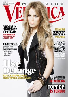 Ilse DeLange on the Cover of Veronica Magazine, 22 till 28 September, 2012.
