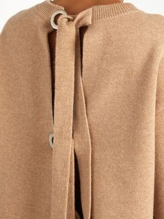 Double-faced cashmere-knit self-fastening sweater | Proenza Schouler…