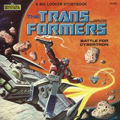 """""""Battle for Cybertron,"""" a children's storybook featuring Hasbro's Transformers, with artwork by Earl Norem"""