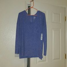 Blouse Blue (blue violet) blouse. Brand new with tags. Runs big. Actually runs as XXL. Old Navy Tops Blouses