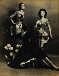 Jean Patchett, Suzy Parker, and Dovima, 1955. Photo by Constantin Joffe.