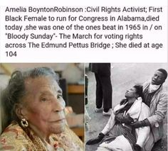 Amelia Boynton Robinson /Civil Rights Activist Black History Facts, Black History Month, Photographie Indie, Be My Hero, We Are The World, Black Pride, Badass Women, Faith In Humanity, African American History