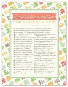 Freebie   Printable Travel Photo Checklist · Scrapbooking   CraftGossip.com