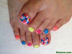 Toenails Summer Ideas nail art techniques 2014