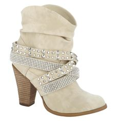 Not Rated- -Women's Fashion Boot Short Change - Cream-Shoes-Womens Shoes-Womens Boots