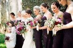 These bridesmaid dresses were absolutely romantic!  Coordination | Mac & B Events >> Photography | Smith Photos + Ink