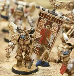 Blood Angels Sanguinary Guard Banner, Painted by Tim Davis Love the sand colour.