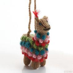 highland animal ornaments llama