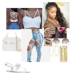 """""""Atlanta On A Gorgeous Dayyy"""" by tinkbby ❤ liked on Polyvore featuring Chloé, NYX, River Island and Versace"""
