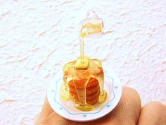Floating Miniature Ring, Syrup on Pancakes
