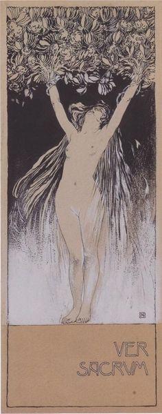 Koloman Moser (Austrian, 1868-1918). Illustration for the journal Ver Sacrum.