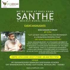 Enlighten yourself at the discussion forum by Sri Sunil Sahasrabudhey at Ragi Kana this Sunday on June 4th, and look at the environment from a Lokavidya perspective. Meet us there for naturally grown food. To shop online, visit: https://shop.jivabhumi.com/ #Farm #Tree #GoGreen #PlantATree