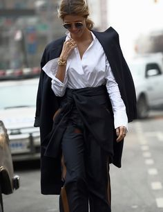 on the streets in New York #NYFW
