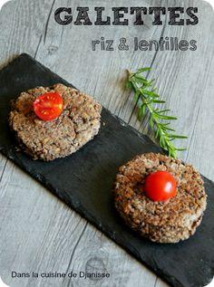 Galettes lentiles et riz Veggie Recipes, New Recipes, Favorite Recipes, Plat Vegan, Avocado Toast, Gluten, Food Porn, Good Food, Vegetarian