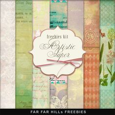 Far Far Hill - Free database of digital illustrations and papers: New Freebies Kit - Artistic Paper