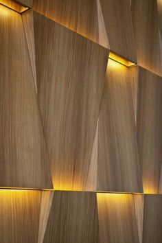 BELLE VIVIR -Decorating Ideas, Interior Design Inspirations and Fashion Latest. : For the home: Unique wall treatments and textured walls Architecture Details, Interior Architecture, Interior And Exterior, Installation Architecture, Light Architecture, Interior Lighting, Lighting Design, Wall Lighting, Indirect Lighting