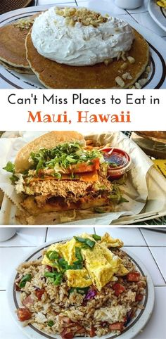 After enjoying a Maui adventure, you need to eat! Where to find the best places to eat in Maui, Hawaii. From fish to fried rices and everything you want to try in Maui. Maui Hawaii, Kauai, Hawaii Vacation, Lahaina Maui, Hawaii Life, Kaanapali Maui, Maui Vacation Rentals, Tropical Vacations, Visit Hawaii