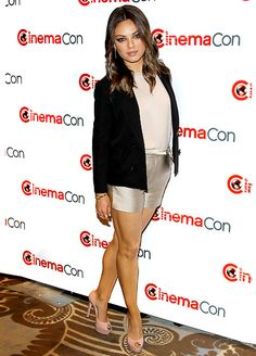 Mila Kunis dazzled in short-shorts at the Walt Disney Studio Motion Pictures CinemaCon event in Las Vegas Tuesday night.