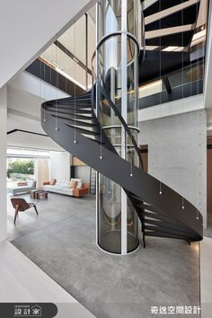 When you find yourself trying to decide upon a design and layout for your home staircase, it can be more than a bit of a challenge to pick something ple. Dream Home Design, Modern House Design, Home Interior Design, Interior And Exterior, Staircase Railings, Curved Staircase, Staircases, Railing Design, Staircase Design