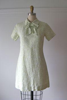vintage 1960s mini dress / Mod Mojito