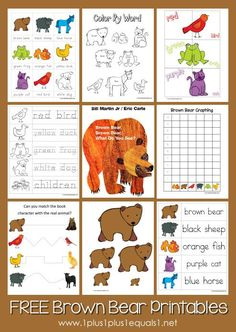 Free Brown Bear Brown Bear Printables from @{1plus1plus1} Carisa