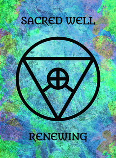 The Sacred Well (Renewing) image for the Transcendence Oracle™ card deck by Aethyrius.