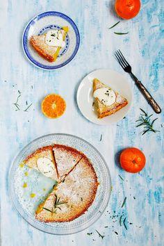 Gluten free clementine rosemary cake