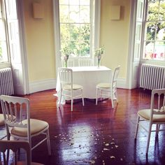 Our ceremony room at Clissold House, Stoke Newington