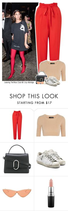 """Leaving The Nice Club W/ Lily Aldridge"" by jhessicakauana ❤ liked on Polyvore featuring Miss Selfridge, Calvin Klein Collection, 3.1 Phillip Lim, Golden Goose, Le Specs and MAC Cosmetics"