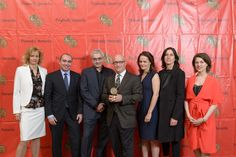 """Lori Singer, Jedd Wider, Todd Wider, Alex Gibney, Alexandra Johnes, Sloane Klevin and Kristen Vaurio with the 2013 Peabody Award for """"Mea Maxima Culpa: Silence in the House of God."""""""