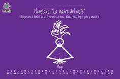 Sigue nuestro calendario con elementos de la cosmología Huichol. #calendario #huichol #DiaDeLasMadres