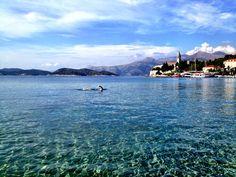 I take a swim on this beautiful day in Lopud, a small island off Dubrovnik, Croatia.
