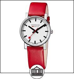 Mondaine SBB Evo 38mm A660.30344.11SBC Reloj de pulsera Cuarzo Suizo Hombre correa de Cuero Rojo de  ✿ Relojes para hombre - (Gama media/alta) ✿