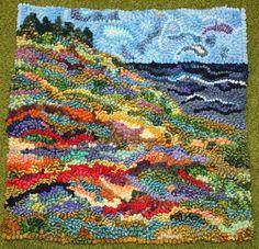 Summer field hooked rug
