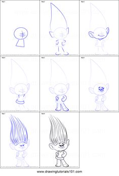 How to Draw Mandy Sparkledust from Trolls step by step printable drawing sheet to print. Learn How to Draw Mandy Sparkledust from Trolls Drawing Lessons For Kids, Art Drawings For Kids, Doodle Drawings, Art Drawings Sketches, Art Illustrations, Easy Disney Drawings, Cute Easy Drawings, Disney Sketches, Drawing Cartoon Characters