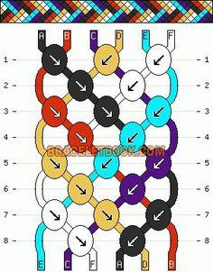 Normal Friendship Bracelet Pattern #923