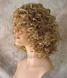 Short Heat Resistant WIG Sexy Curls Blonde Brown Womens Wigs | eBay