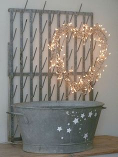 Heart shaped lighted garland