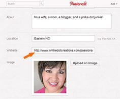 how to create a landing page for your pinterest profile.