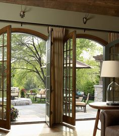 Interior Design Ideas: French Interiors French doors curved arch.