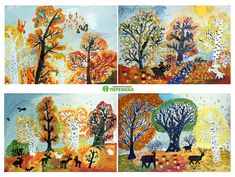 fall trees. landscape