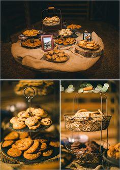 adorable dessert set up - cookie bar