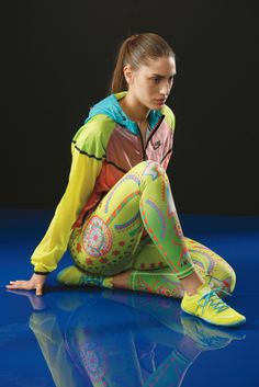 Nike's nylon jacket, limited-edition Dri-FIT polyester leggings and Nike Free 1.0 Bionic sneakers. [Photo by George Chinsee]