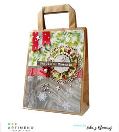 Torba ozdobna na święta Craft Shop, Beautiful Moments, Reusable Tote Bags, Crafts, Shopping, Manualidades, Handmade Crafts, Craft, Arts And Crafts