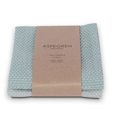 Waffle Tea Towel Duo - Dusk Blue: Freshen up your kitchen with this duo of pretty tea towels from Aspegren.   Woven using 100% high quality cotton, Aspegren's waffle tea towels come neatly packaged as a set of two, each one in a delicate shade of dusk blue.  Why not add a set of Aspegren knitted dishcloths and a hand towel, both available in toning colours, making a lovely gift for your own kitchen or for another.  - 50 x 70 cm